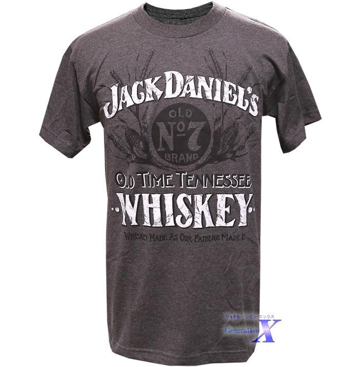 カッコいい Jack Daniels グレー ジャックダニエルズ公式メンズTシャツ 大決算セール 激安超特価