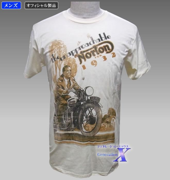 世界的に有名なバイクメーカーの老舗がTシャツに 大規模セール 全品送料無料 ノートンバイク オフィシャルTシャツ 1932 メンズ