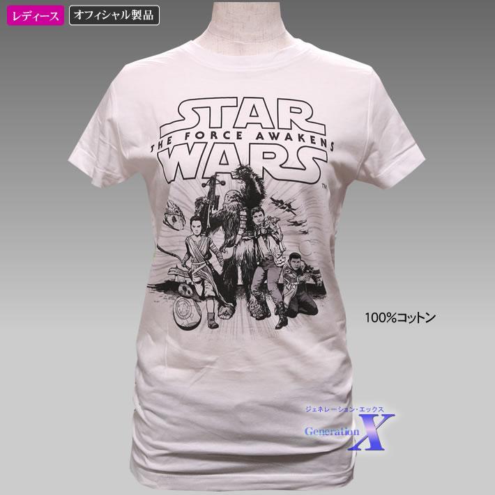 米国公式製品 スターウォーズ米国ライセンスTシャツ レディース ホワイト 贈り物 SALENEW大人気