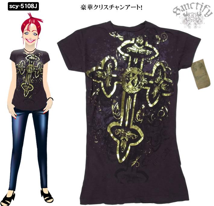 ハリウッドセレブに大人気の新ブランド 最安値 サンクティファイ 安い 激安 プチプラ 高品質 レディース Tシャツ5108J キリスト