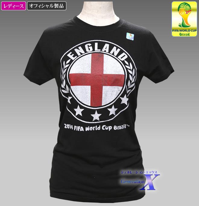 日本未入荷品 FIFA World Cup 2014 初回限定 引き出物 サッカー ワールドカップ公式製品 イングランド レディースTシャツ