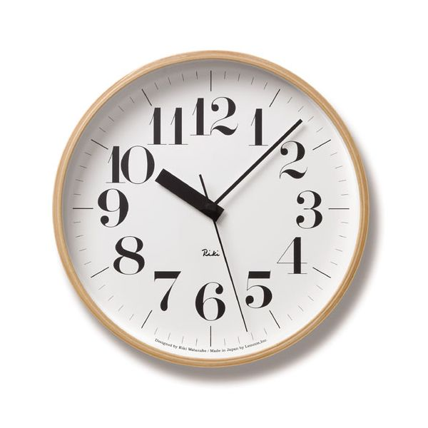 Lemnos (レムノス)Riki Clock RC L 電波時計 WR08-27 【北海道・沖縄・東北は送料無料対象外】【送料無料】☆☆