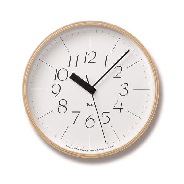 Lemnos(レムノス)Riki Clock RC L 電波時計 WR08-26 シンプル 掛け時計 インテリア 置き時計 おしゃれ 時計 祝い ギフト プレゼント ラッピング 壁掛け クロック デザイン時計 国産 渡辺力