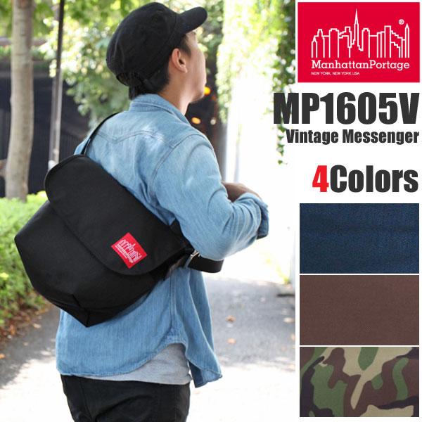 【正規取扱店】マンハッタンポーテージ ヴィンテージメッセンジャーバッグ[全4色]メンズ レディース【鞄】 1501trip pt15新生活 通勤