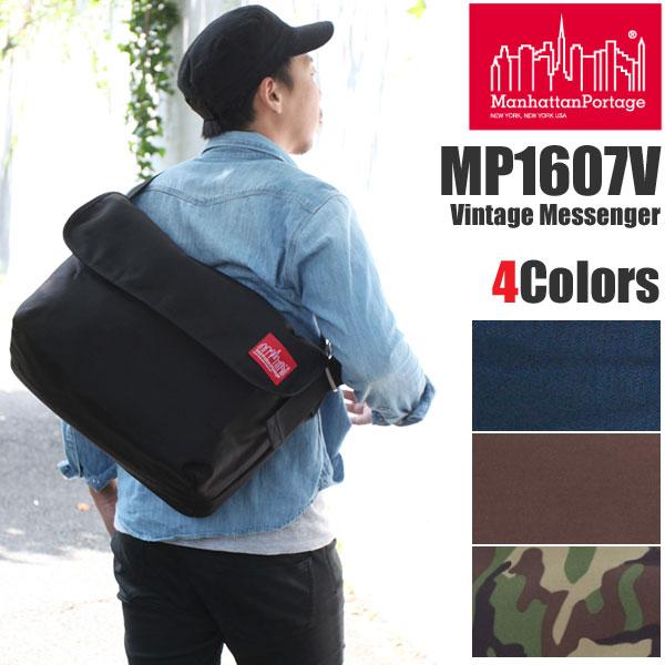 【正規取扱店】マンハッタンポーテージ ヴィンテージメッセンジャーバッグ[全4色]メンズ レディース【鞄】 1501trip新生活 通勤