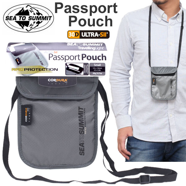 ◆ 2015 spring summer ◆ SEA TO SUMMIT TL PASSPORT POUCH S RFID [Gray] (1700474) sea to Summit travelling light Passport pouch Unisex (men and women combined) _ 11506E(trip)