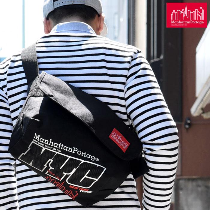 【正規取扱店】マンハッタンポーテージ Manhattan PortageNYCプリント ヴィンテージ メッセンジャーバッグ[ブラック レッド]メンズ レディース【鞄】 1604trip pt15)新生活 通勤 deal