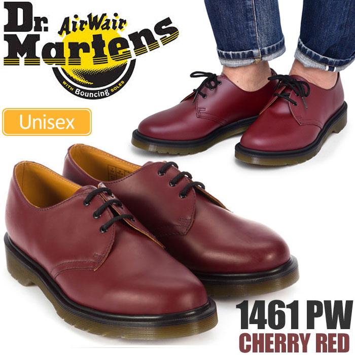 【正規取扱店】ドクターマーチン 3ホールシューズ 1461 プレーンウェルト ポストマンシューズ[チェリーレッド](10078602)Dr.Martens 1461 PW 3 EYE SHOE メンズ レディース【靴】 1709trip新生活