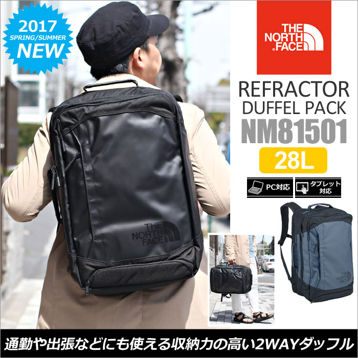 ◆ 2015 spring summer ◆ THE NORTH FACE REFRACTOR DUFFEL PACK [Black] (NM81501) north face reflector Duffle Pack Unisex (men and women combined) _ 11504 E (trip) 05P04Jul15