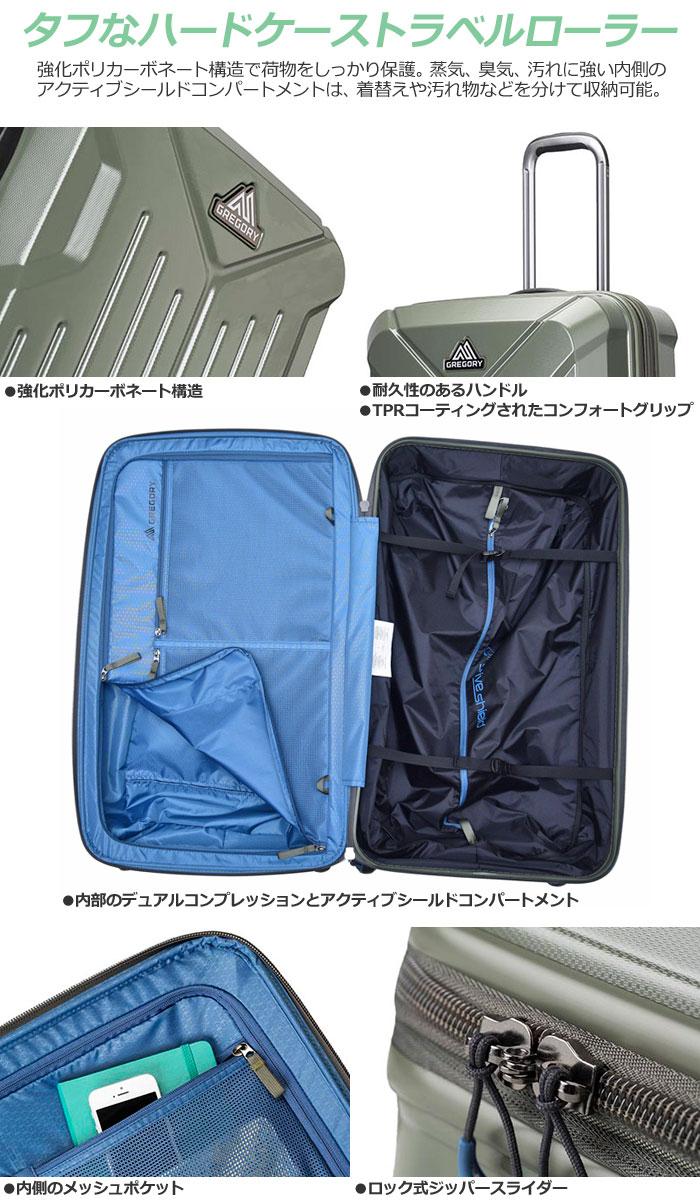 【楽天市場】グレゴリー スーツケース クアドロハードケースローラー30インチ(90L)[全2色]【新ロゴ