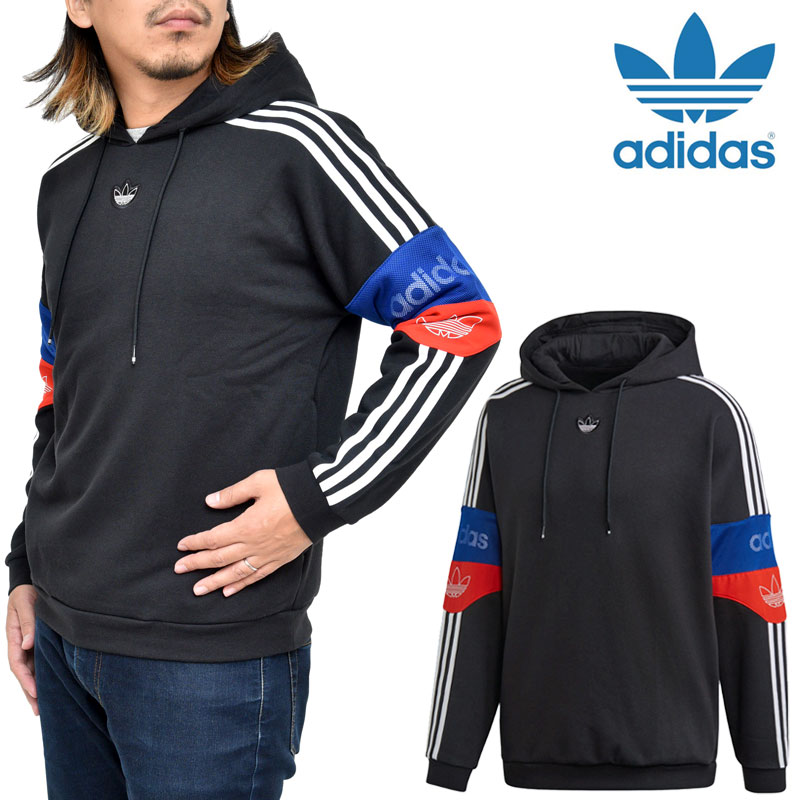 ADIDAS ORIGINALS Ts Trf Hooded Sweatshirt for Men Black