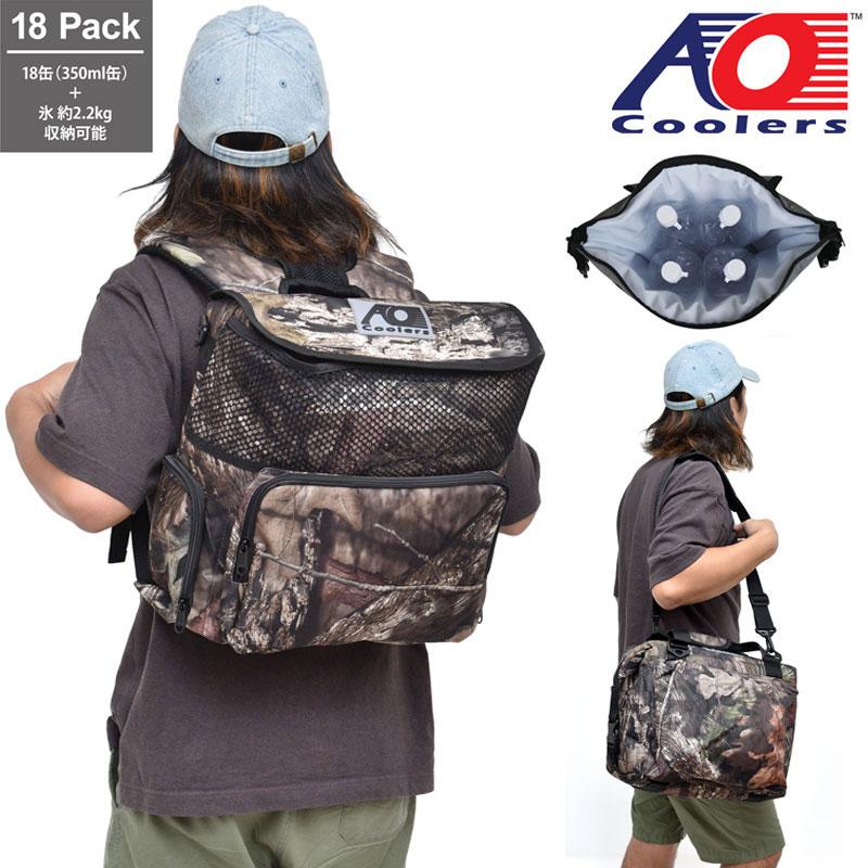 【正規取扱店】AOクーラー AO coolers 18パックバックパックソフトクーラー(モッシーオーク)[ブレイクアップ]メンズ レディース【鞄】 1908trip新生活