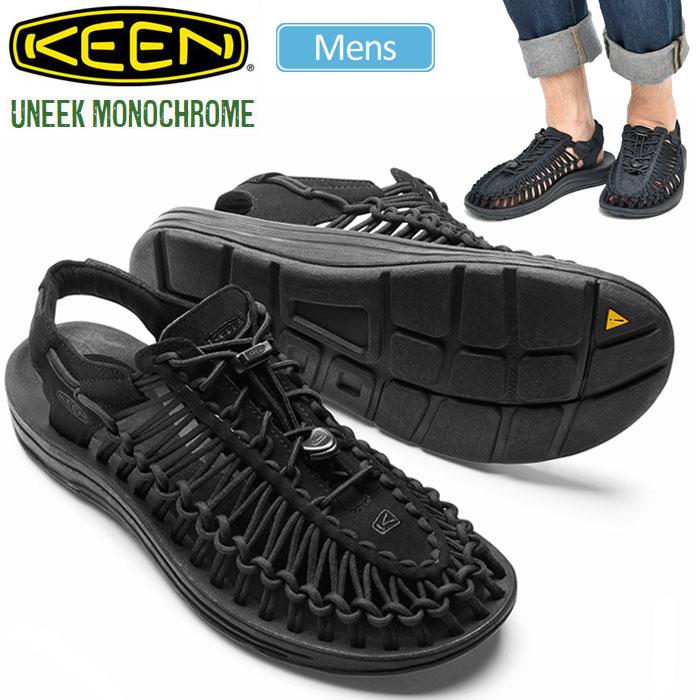 【正規取扱店】キーン KEEN ユニーク モノクローム サンダル[ブラック ブラック](1014097)UNEEK MONOCHROME メンズ(男性用)【靴】 sdl 1704trip新生活