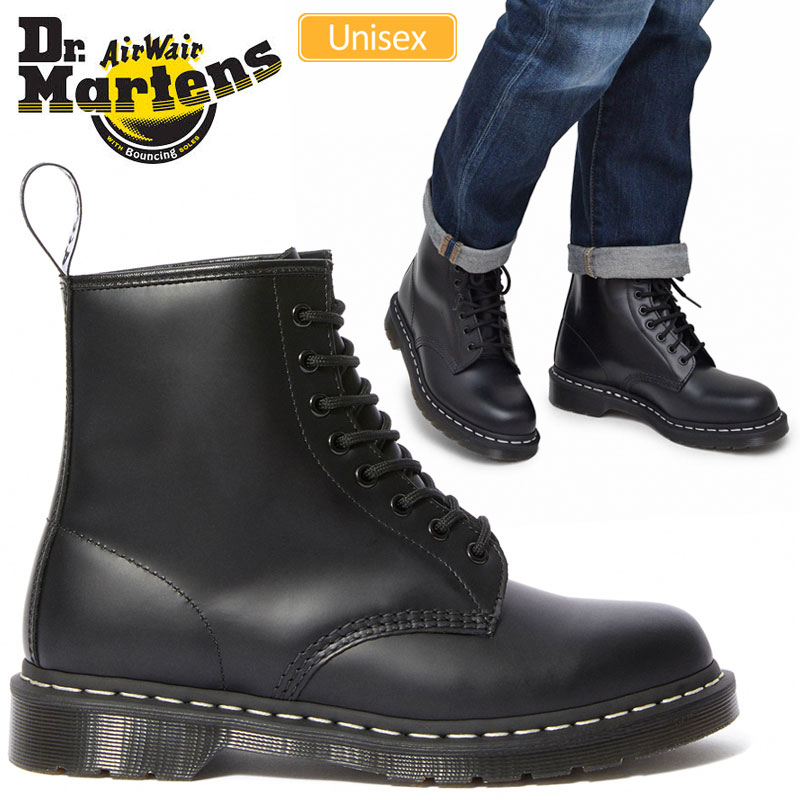 ドクターマーチン Dr.Martens 1460Z ホワイトウェルト 8ホールブーツ【ブラック】(24758001/23-28cm)CORE WHITE WELT 8EYE BOOTS メンズ レディース【靴】_1911trip