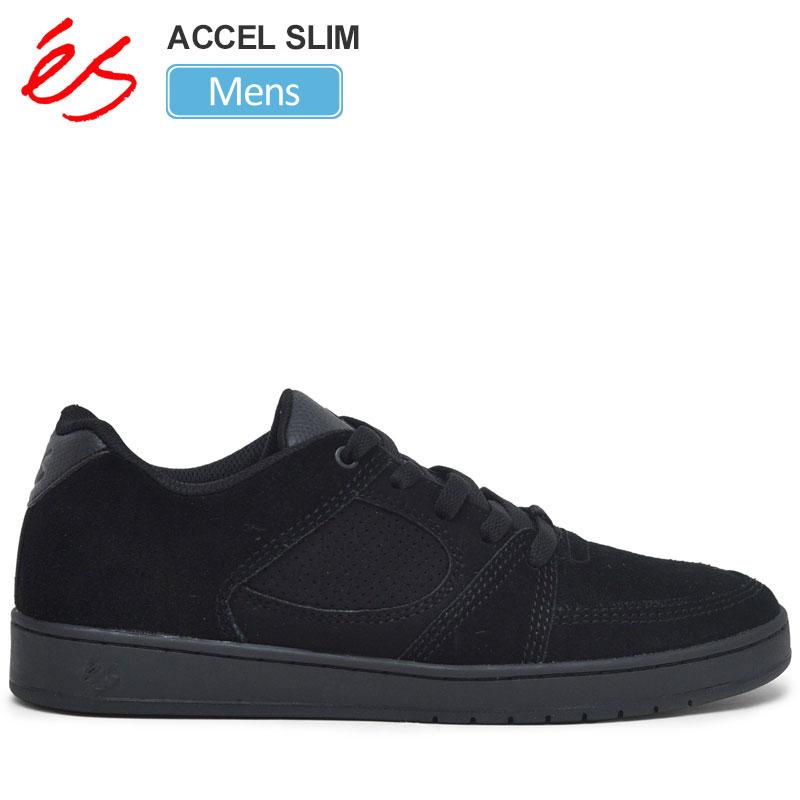 【正規取扱店】エス スニーカー 'es アクセルスリム(ブラック ブラック ブラック)(26-28.5cm)ACCEL SLIM メンズ【靴】 snk 1909trip新生活