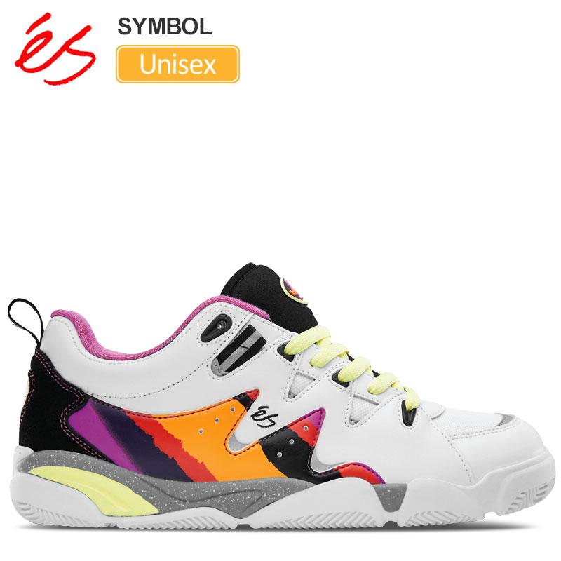 【正規取扱店】エス スニーカー 'es シンボル(ホワイト パープル)(23-29cm)SYMBOL メンズ レディース【靴】 snk 1909trip新生活