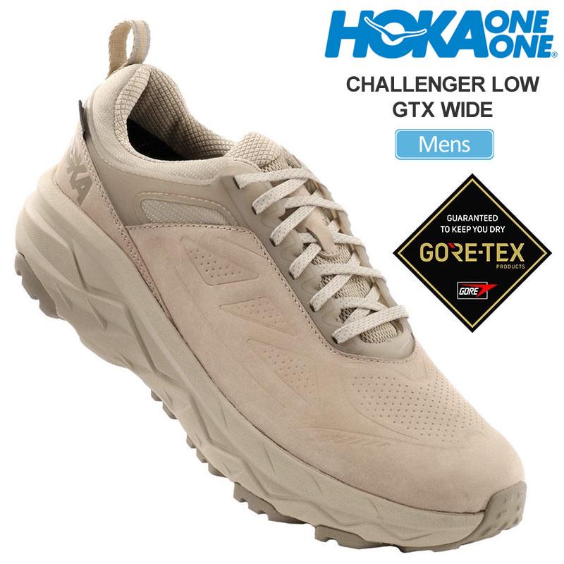 【正規取扱店】ホカオネオネ HOKA ONE ONE スニーカー メンズ チャレンジャーローゴアテックス ワイド 2E オックスフォードタン 26-28cm CHALLENGER LOW GTX WIDE 1106519 20FW snk【靴】2008trip