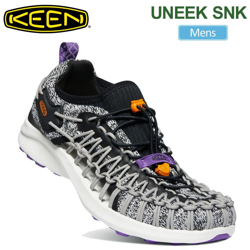 【正規取扱店】キーン KEEN メンズ スニーカー サンダル ユニークスニーク UNEEK SNK ミックスグレー ブラック 25-29cm 1022386 20SS snk【靴】2004trip