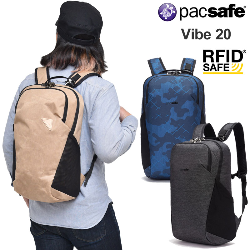 【正規取扱店】パックセーフ pacsafe リュック 盗難防止機能 メンズ レディース バイブ20 VIBE20 (20L) 12970186 bpk【鞄】2004trip