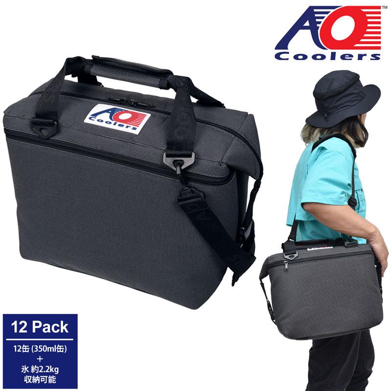 【正規取扱店】AOクーラーズ AO Coolers クーラーバッグ 保冷バッグ 12パックバリスティックソフトクーラー 11L チャコール AOBA12CH 20SS【鞄】2006trip