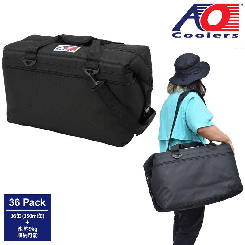 【正規取扱店】AOクーラーズ AO Coolers クーラーバッグ 保冷バッグ 36パックキャンバスソフトクーラー 34L ブラック AO36 20SS【鞄】2006trip