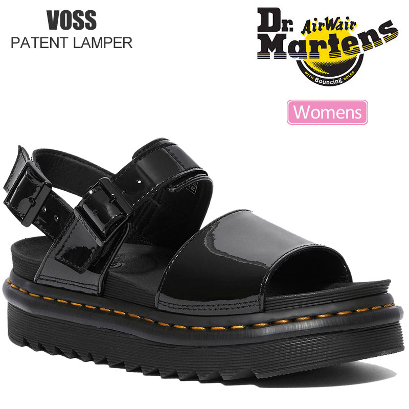 【正規取扱店】ドクターマーチン Dr.Martens サンダル レディース ウィメンズ ヴォス ボス パテントランパー ブラック 22-25cm VOSS PATENT LAMPER 25773001 20SS sdl【靴】2005trip