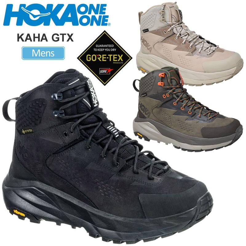【正規取扱店】ホカオネオネ HOKA ONE ONE スニーカー メンズ カハ ゴアテックス KAHA GTXブラック オリーブ デューン タン 26-28cm 1112030 20FW snk【靴】2008trip