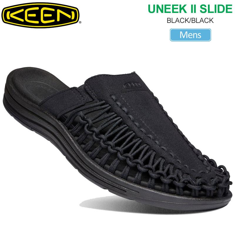 【正規取扱店】キーン KEEN メンズ サンダル ユニーク2 スライド UNEEK2 SLIDE ブラック 25-29cm 1022371 20SS sdl【靴】2007trip