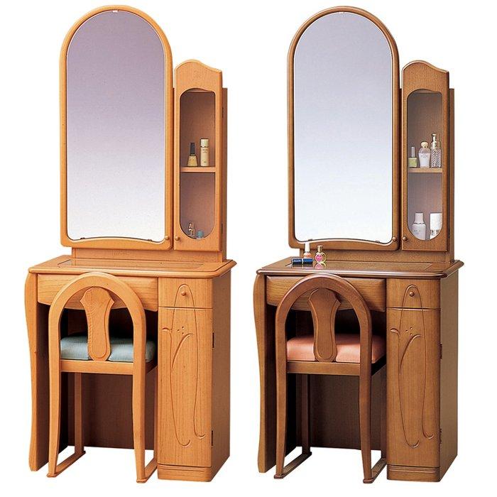 ドレッサー 鏡台 一面鏡台 65幅 木製 日本製 オールディ【送料無料】