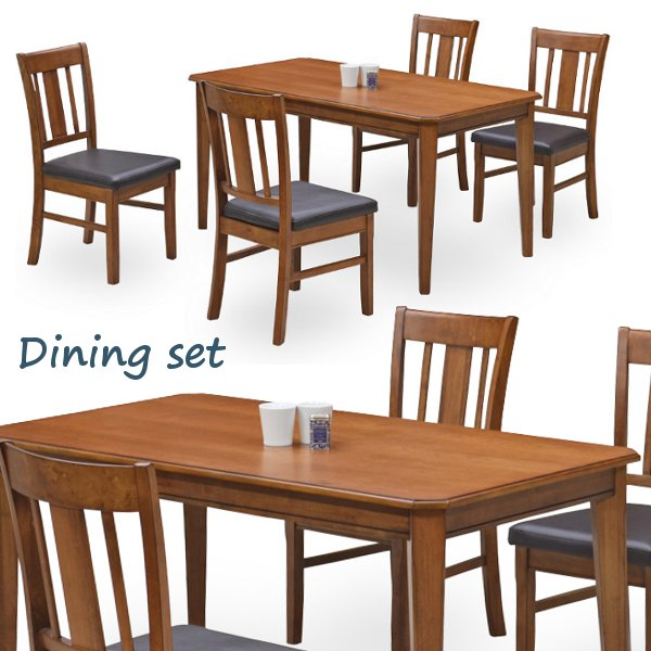 ダイニングセット ダイニングテーブル 5点セット 4人掛け ハイバックチェア テーブル幅140cm【送料無料】
