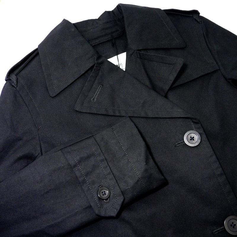 【新品】Kennett & Lindsell ケネットアンドリンゼル トレンチコート 黒 ブラック UK8 S