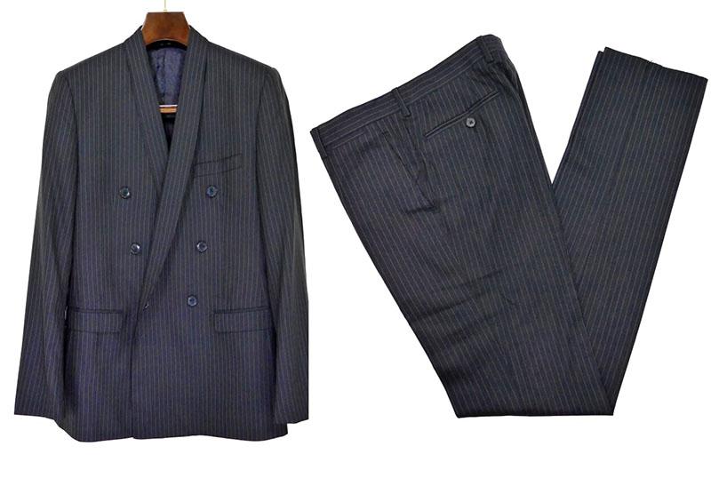 【中古】DOLCE&GABBANA ドルチェ&ガッバーナ スーツ 48 ネイビー 紺