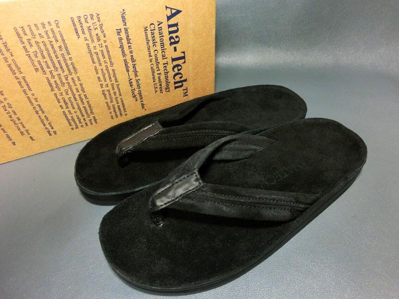 【新品】ANA-TECH アナテック レザーサンダル 43 27.5cm 黒 ブラック 本革