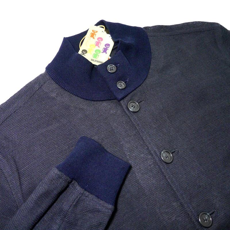 【新品】ヴァルスタリーノバルスタージャケット ブルゾン 46 M 紺 ネイビー 春夏 メッシュ ジャージー