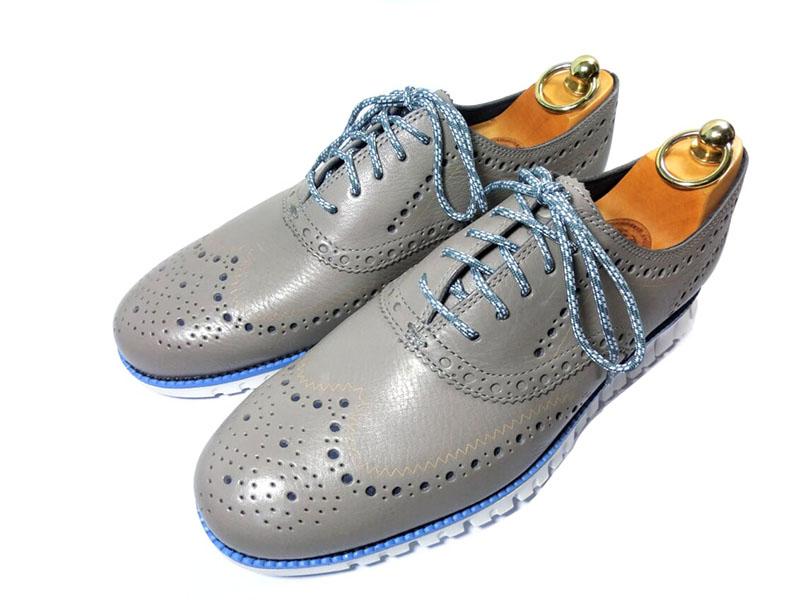 【新品】コールハーン ゼログランド ウイングチップ オックスフォード 7 1/2 25.5cm アイロンストーン / 革靴 ビジネスシューズ