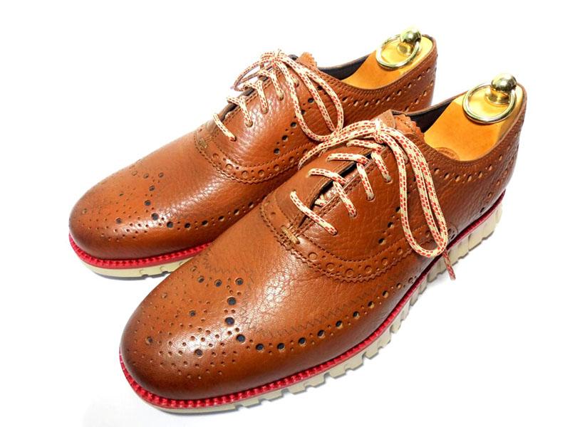 【新品】コールハーン ゼログランド ウイングチップ オックスフォード 8 26cm ハバナ 茶 ブラウン シューズ 革靴 スニーカー