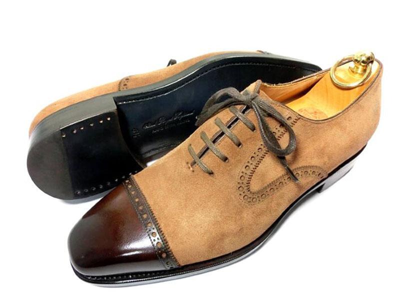 【新品】42nd ロイヤルハイランド NAVYコレクション 革靴 61/2 24.5 茶 ブラウン スエード クォーターブローグ