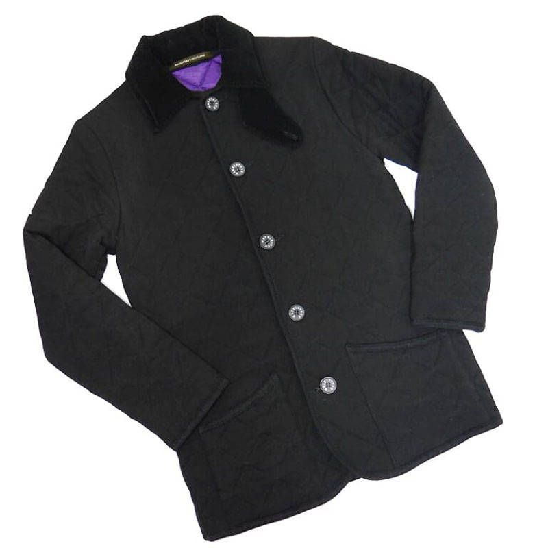 【中古】マッキントッシュ ウール キルティング ジャケット 36 黒 ブラック (S~M、英国8に相当)/ ブルゾン