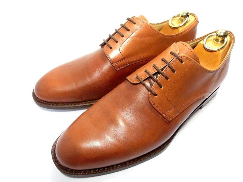 【中古】PARABOOT パラブーツ 外羽根 プレーントゥ 7 25.5~26cm 茶 革靴 ビジネスシューズ