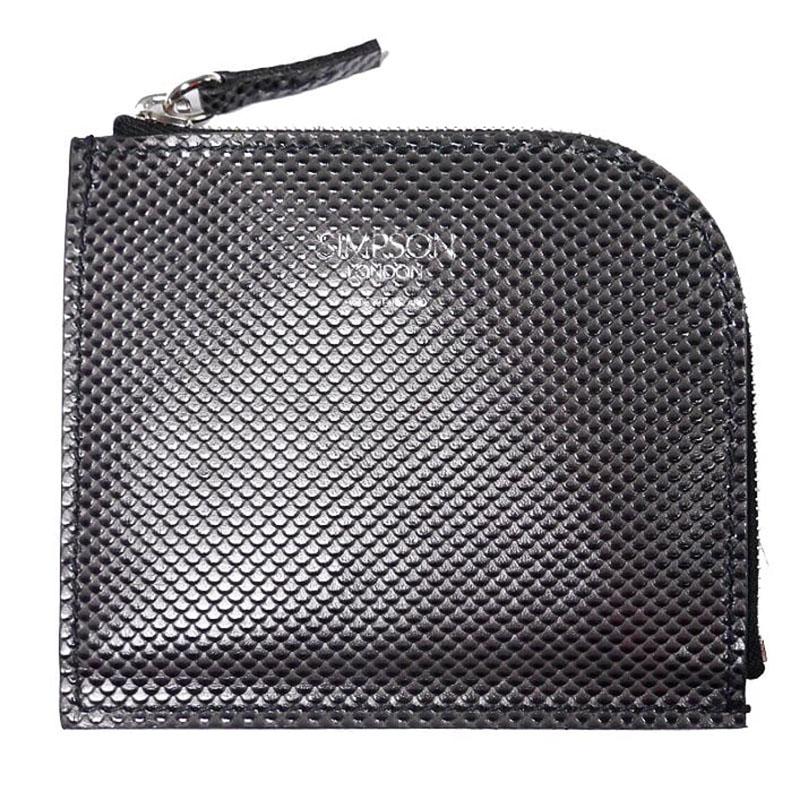 【新品】シンプソン ロンドン ミニ財布 カーボンレザー グレー/ コインケース コインパース スモールウォレット