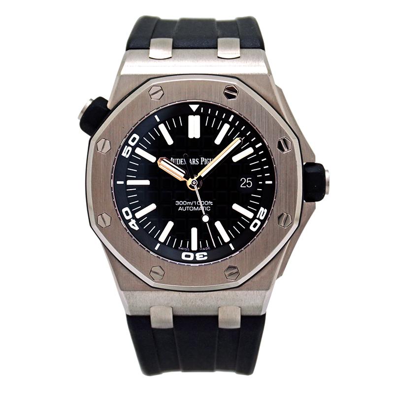 【中古】オーデマピゲ ロイヤルオークオフショア ダイバー 15710ST.OO.A002CA.01ステンレス 箱/保証書付き 美品メンズ 腕時計 自動巻