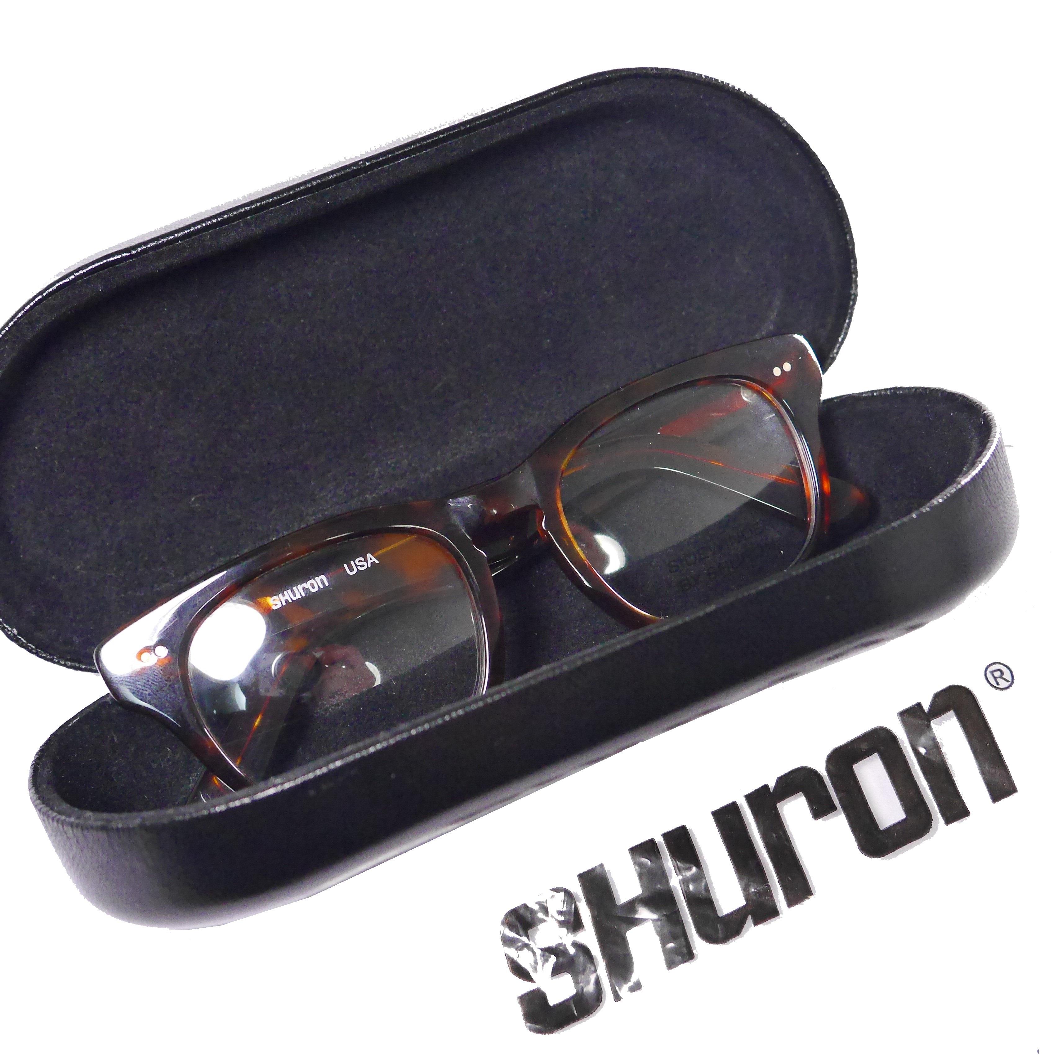 SHURON シュロン サイドワインダー50□20 べっこう柄伊達メガネ 眼鏡 サングラス