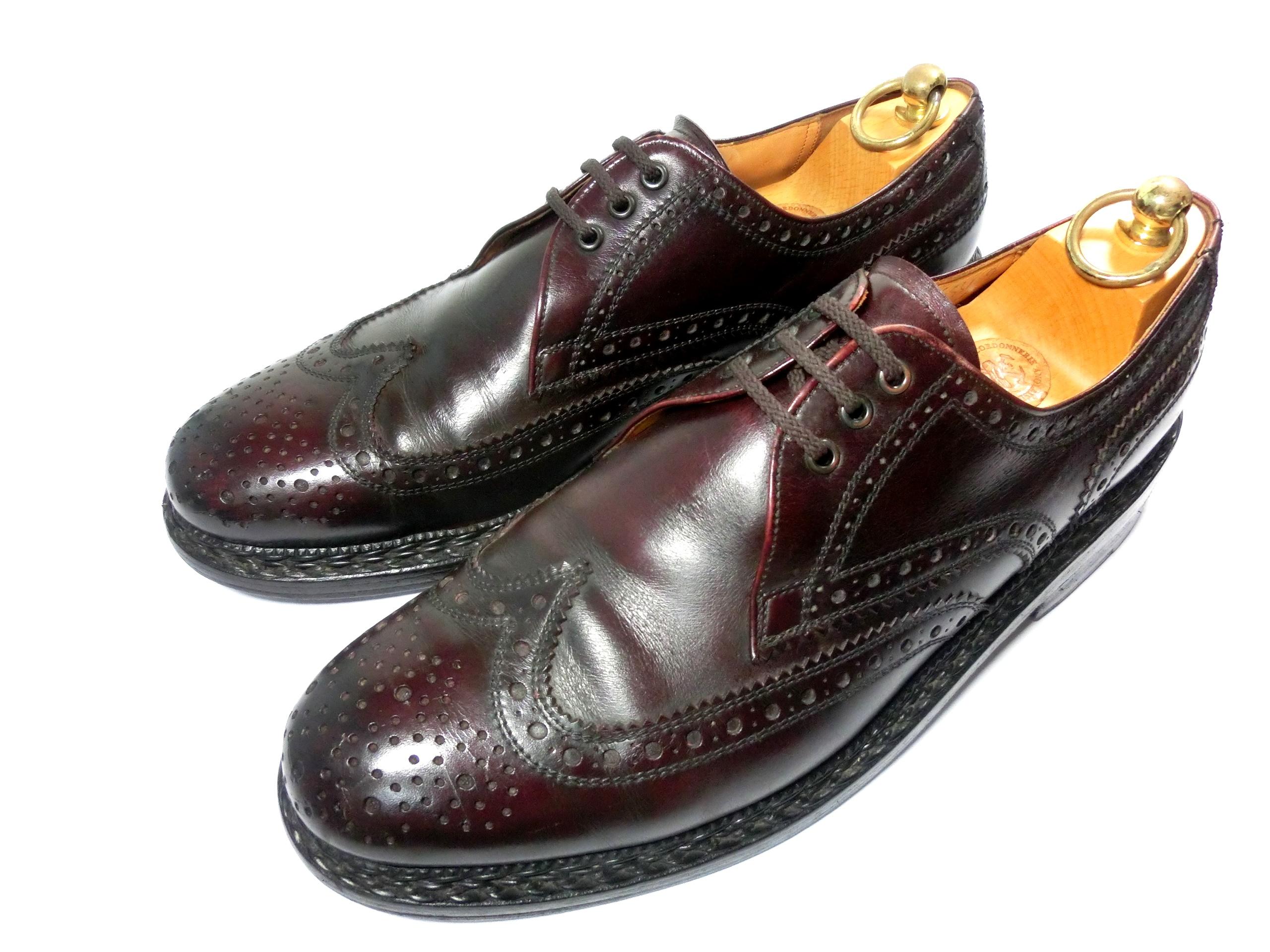 APOLLO アポロ 革靴 91/2 28cm 外羽根 ウイングチップ ディンケラッカー