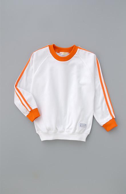 超特価SALE開催 体操着 長そで体操シャツ オレンジ 格安店 肩ライン2本入り ゆうパケット2枚まで可
