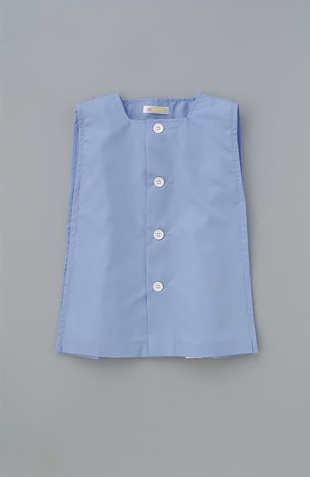 遊び着 スモック 贈り物 袖なし ブルー ゆうパケット2枚まで可 公式サイト