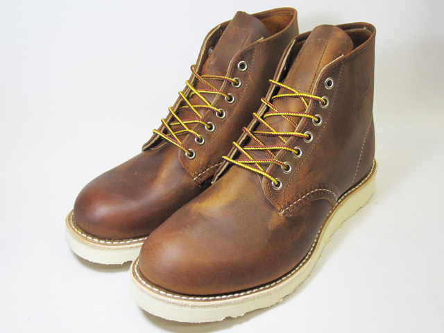 RED WING Red Wing 9111 CLASSIC WORK classic work boots ROUND-TOE round and to copper ROUGH &TOUGH copper rough & tough