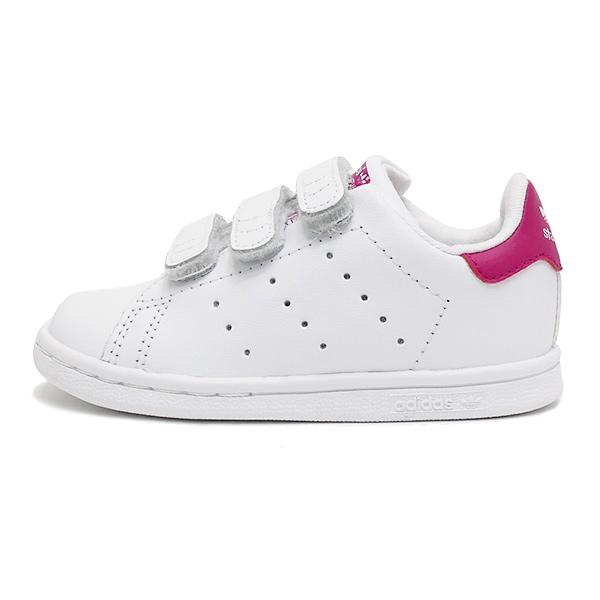 ADIDAS Originals STAN SMITH CF I愛迪達原始物Stan Smith舒服I]running white/bold pink(跑步白/粗體字粉紅)kids小孩BZ0523 17FW