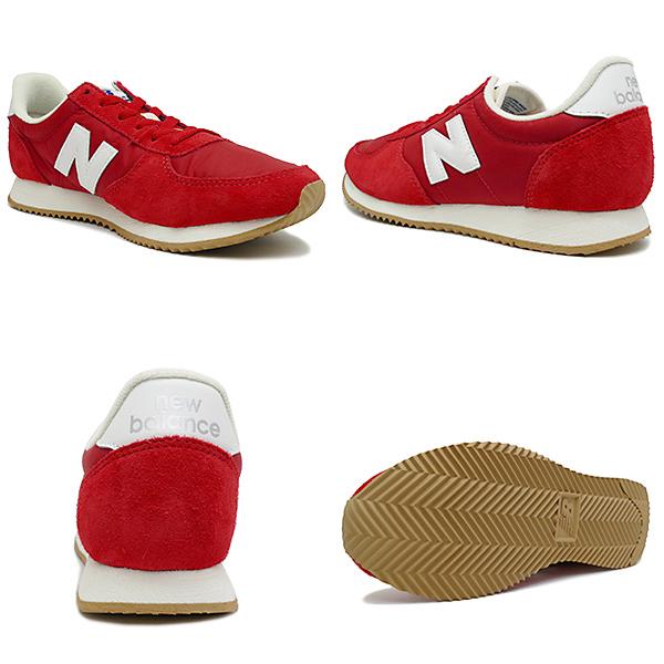 NEW BALANCE U220 RD racer red/white男女两用NB 17FW