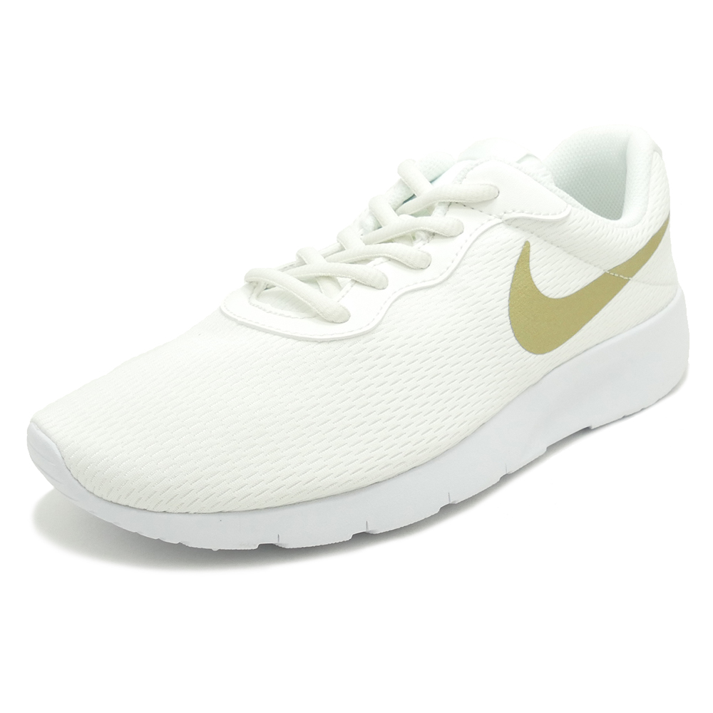 nike tanjun white gold