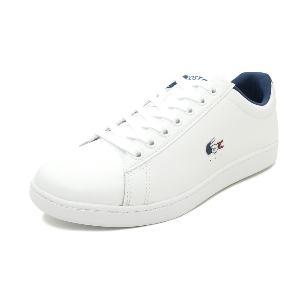 スニーカー ラコステ LACOSTE カーナビーエヴォ TRI 1 ホワイト/ネイビー/レッド SMA0033L-407 メンズ シューズ 靴 20Q1
